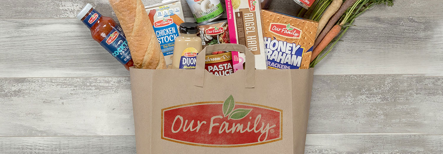 Our Family brand groceries